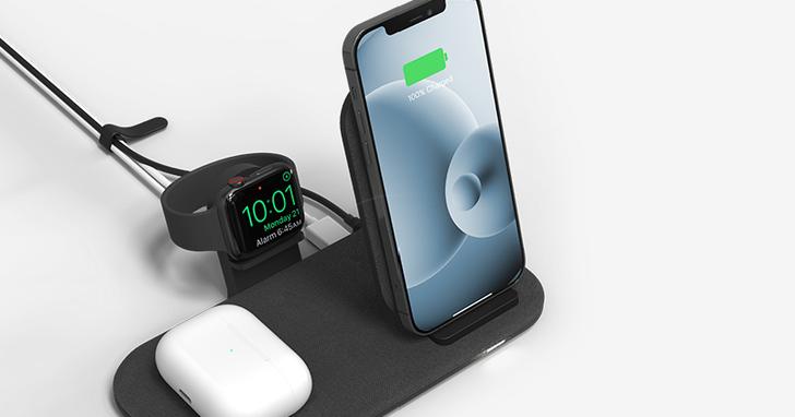告別糾纏的充電線們!mophie 2+1無線充電盤讓你一次充飽iPhone、AirPods、Apple Watch