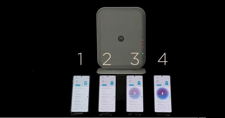 摩托羅拉新隔空充電技術亮相,可在3公尺範圍內同時為 4 台手機充電