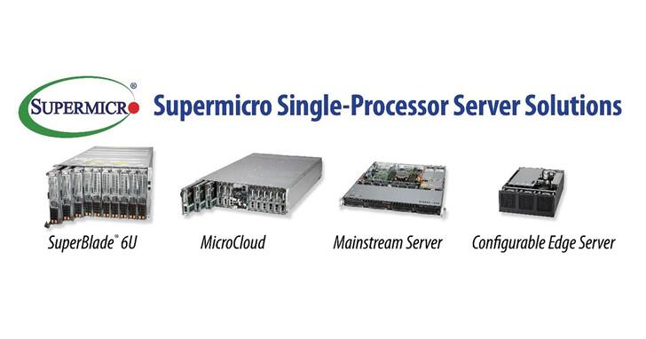 Supermicro擴展高效能單處理器系統產品組合