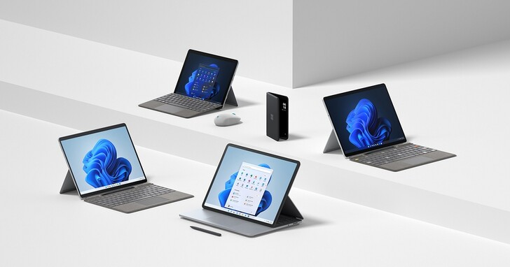 微軟推出包含 Surface Pro 8 等 8 款 Surface 新品,雙螢幕手機 Duo 2 升級三鏡頭
