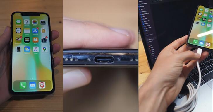 他動手魔改史上首款USB Type-C直連的iPhone,可以正常充電和傳資料