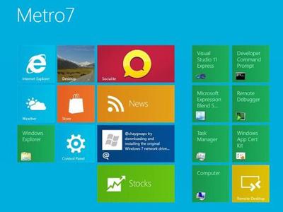 使用 Windows 8 免重灌,安裝 Metro 7 讓你使用新介面
