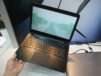 Computex 2012:Acer Aspire S5 電動連接埠實機把玩