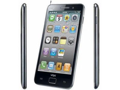 Galaxy S2 和 iPhone 合體,印度山寨機 Vox V9100,2000台幣有找