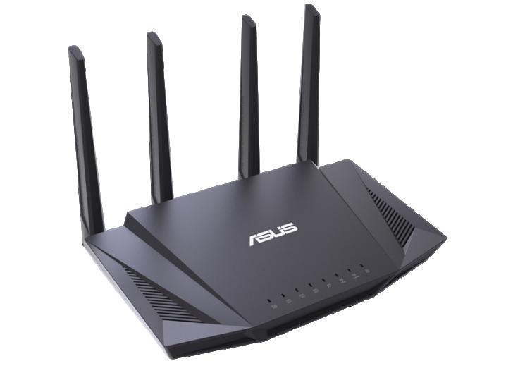 802.11ax/Wi-Fi 6 中階款式 RT-AX58U 無線網路路由器,內部採用 Intel 網路晶片組解決方案,網路 SoC FHCE2732 內建 Atom 雙核心通用處理器與 10Gbps 流量網路處理器,802.11ax 無線網路透過拆分 WAV654 晶片的四空間流,於 2.4GHz 和 5GHz 各自提供 600Mbps 和 2400Mbps 連線速度