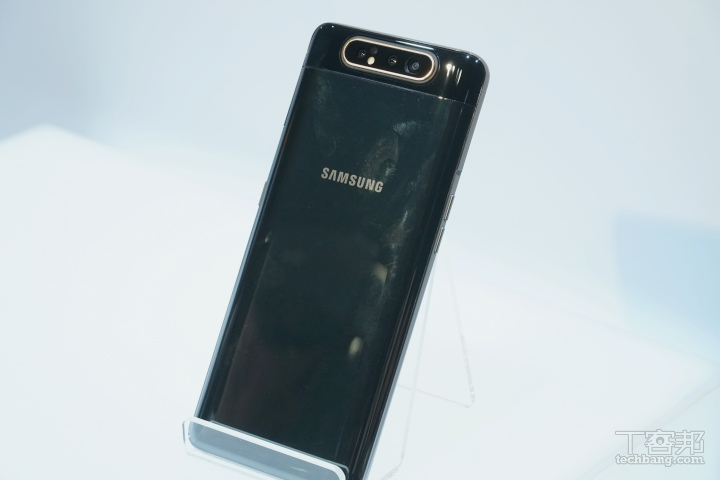 翻轉鏡�的三星 Galaxy A80 在台亮相,預計�月上市
