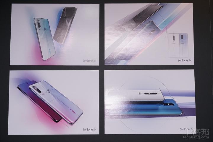華碩展示的 ZenFone 6 �計師手稿。