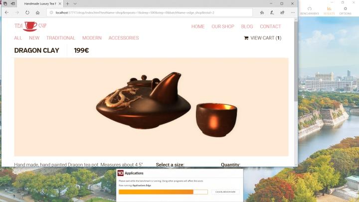 以及透過Edge瀏覽器開啟網頁。