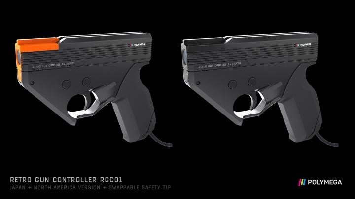 北美、日本版的RGC01槍口為橘色,玩家可以更換黑色零件。