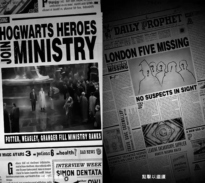 在遊戲片頭的動畫中,《預言家日報》裡有出現哈利波特、衛斯理和妙麗的新聞。這三個人在遊戲中擔任NPC的角色。