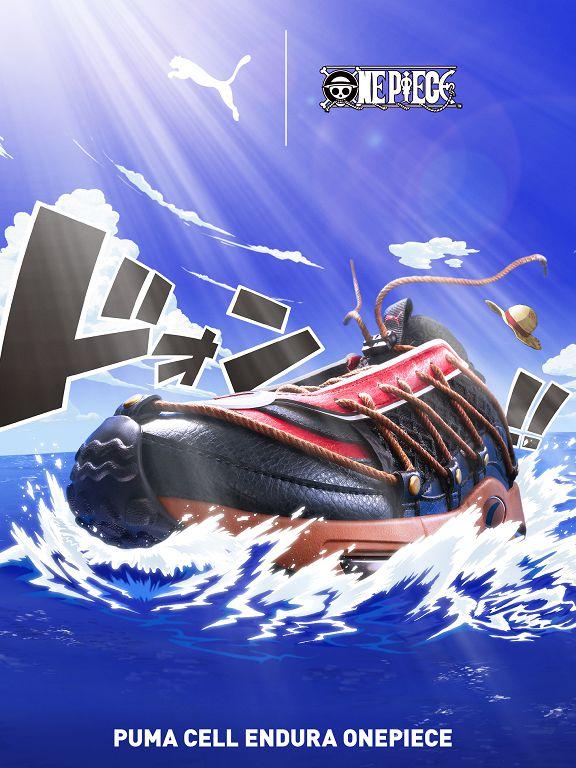 慶祝 ONE PIECE 漫畫連載 20 週年,PUMA 推出以千陽號為設計概念的航海王聯名鞋款
