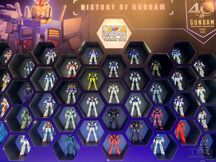 40 架各種經典鋼彈配色的 RX-0 獨角獸鋼彈牆,氣勢非凡!