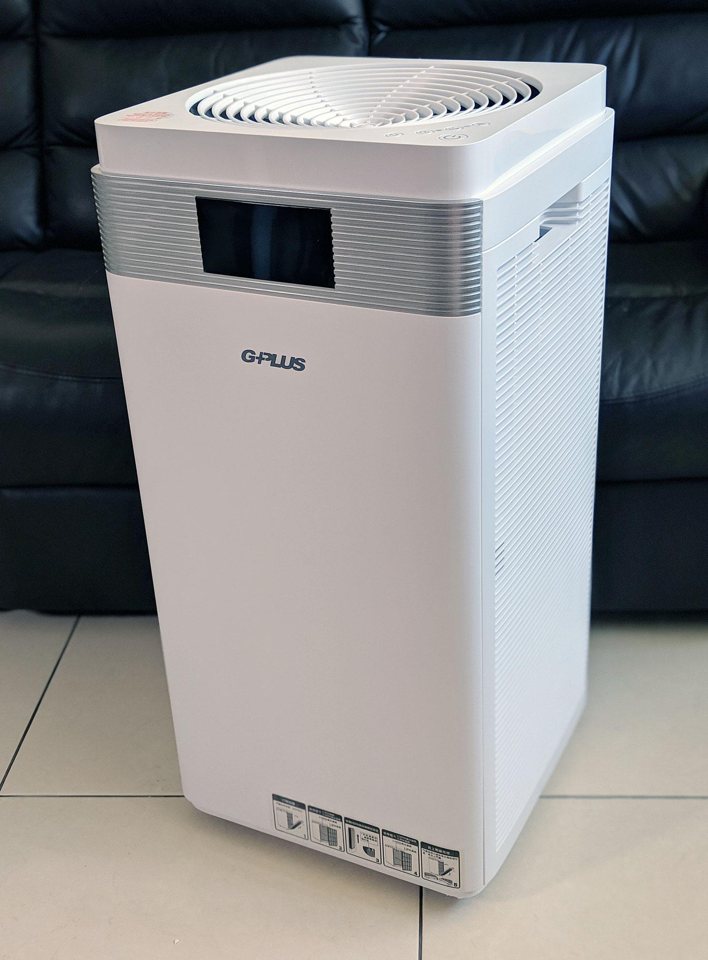 G-Plus Pro 1000 為四方柱體設計,純白的外殼加上機身簡約的設計,能輕易融入不同風格的裝潢環境。