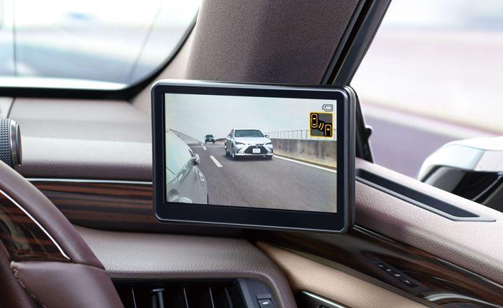 虛擬後視鏡能夠獲得更大的視野範圍。圖片來源: Carscoops