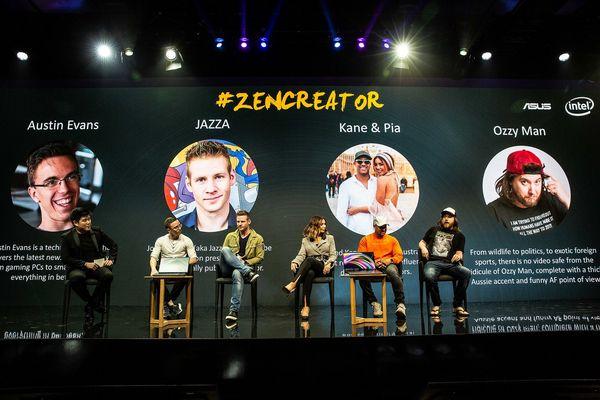 華碩於雪梨與國際頂尖內容創作者一同盛大推出最新ASUS ZenBook系列�電