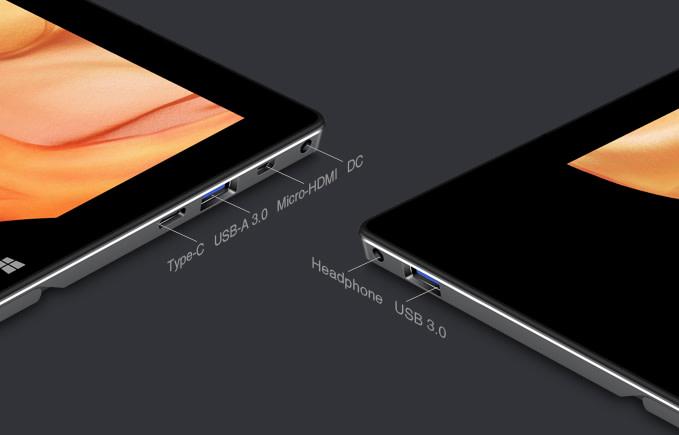 UBook具有USB 3.2 Gen1 Type-A端�2組、Type-C端�1組,以及Micro HDMI、3.5mm耳機、microSD、充電�端�各1組。
