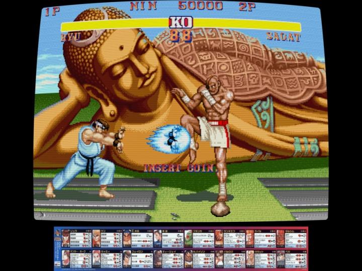MAME佈景功能可以讓遊戲畫面添增遊樂場的氣氛。(圖片來源:Libretro)