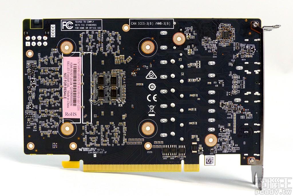 ▲ Gaming GeForce GTX 1660 Super 6GB 顯示卡電路板背面。