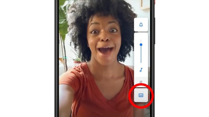 這時候只要按下Live Caption的按鍵。