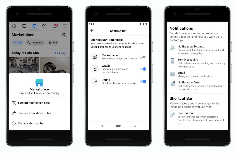 Facebook App 終於可以自訂導航列圖示,還能關閉討�的紅點通知