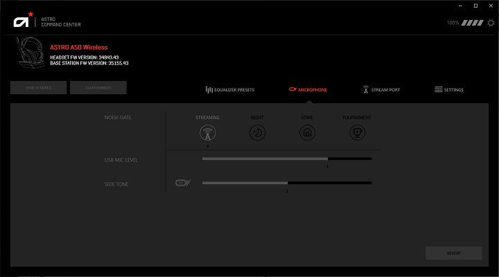 麥克風音量需透過 AAC 應用程式調整,並可選擇使用情境以更改降噪�定。