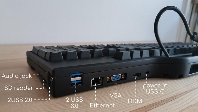 Keydock可以將1個USB Type-C轉換成多種I/O介面。