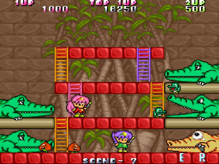 樓梯在Boss戰�也扮演相當重要的角色,讓玩家可以從不同的方位上下移動。