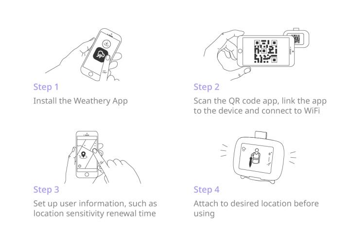 使用者可以透過App輕鬆完成初期�定,並指定自己所在的地區。