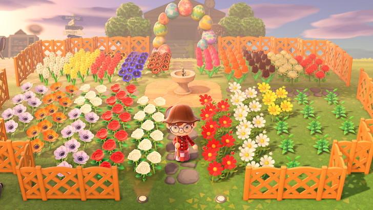 建議建一個大型花園,可以增加花和柵欄的數量,還可以抓蟲。