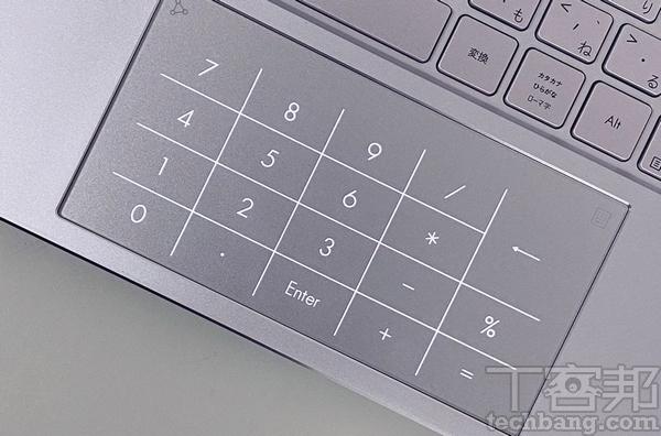 虛擬數�觸控板 將觸控板加入虛擬數�鍵,按下右上角的符號,即可開啟。