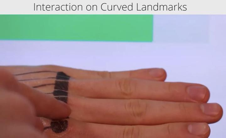 紋身可以應用於不平坦的表面,例如人的指關節。