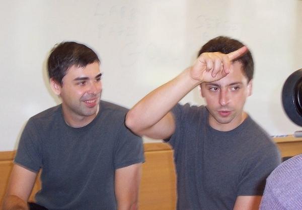 Google 創始人拉里・佩奇和謝爾蓋・布林