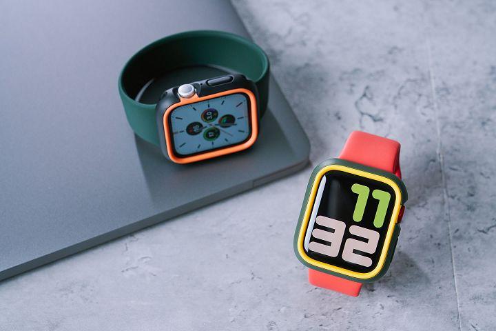 給 Apple Watch 最高防護!犀牛盾撞色保護殼+3D 壯撞貼,抗摔又不失個性化風格