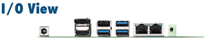 後I/O提供3組USB Gen2 x3、2組GbE乙太網路,以及USB 2.0、HDMI、DP++、3.5mm音源輸出各1組。