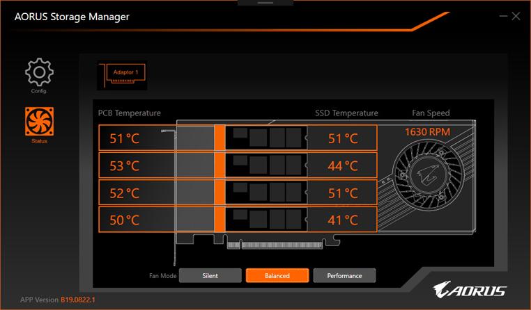 軟體並有溫度顯示功能。