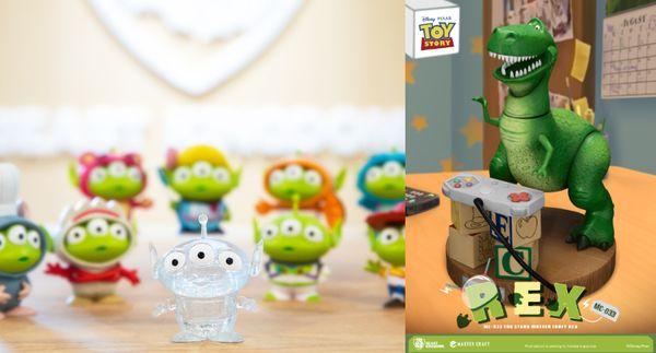 左:「MEA-021SP 三眼怪變裝派對特別版 三眼怪透明版」$399;右:「MC-033 玩具總動員 極匠系列 抱抱龍」 $5,990。